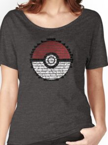 Pokeball Song typography Women's Relaxed Fit T-Shirt