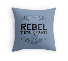 Rebel Time Lord Throw Pillow