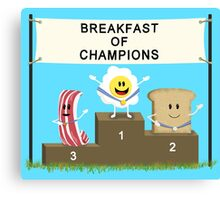 Breakfast of Champions Canvas Print