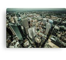 Sydney birdseye view Canvas Print
