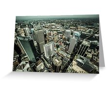 Sydney birdseye view Greeting Card