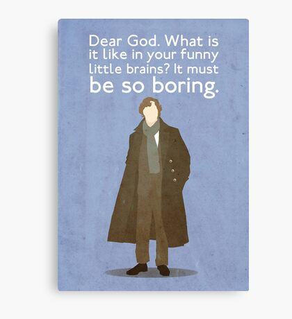 Sherlock Poster Canvas Print