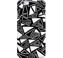 Black & White Triangle Pattern iPhone Case/Skin