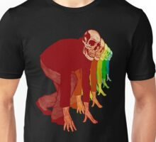 Racing Rainbow Skeleton Unisex T-Shirt