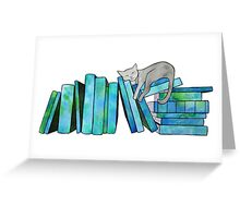 Literary Naps Blue Greeting Card