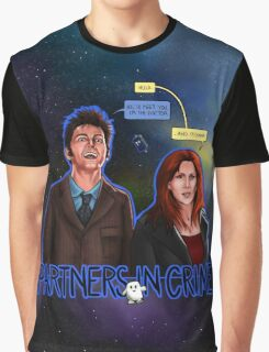 Partners In Crime Doctor Who Tenth Doctor Donna Noble David Tennant Catherine Tate #DTfan4life  Graphic T-Shirt
