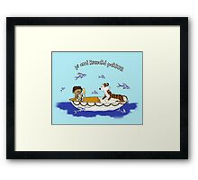 Pi and Richard Parker Framed Print