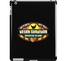 Vegan Survivor Humor Parody iPad Case/Skin