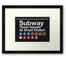 NYC Subway Framed Print