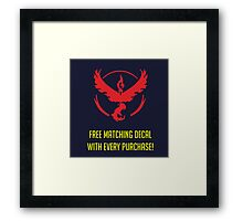 free matching decal with every purchase moltres logo Framed Print