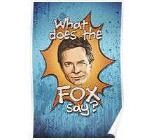What Does The Michael J Fox Say? Poster