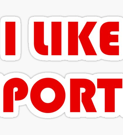 I Like Sports Sticker
