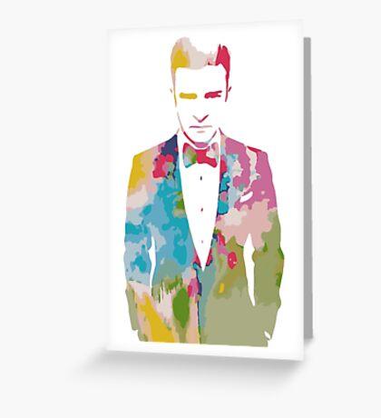 Justin Timberlake Water Colour Greeting Card