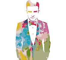 Justin Timberlake Water Colour Photographic Print