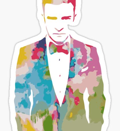 Justin Timberlake Water Colour Sticker