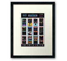 The Arcade Calendar - 2017 Framed Print