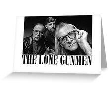 The Lone Gunmen (X-Files) Grunge Style Shirt Greeting Card