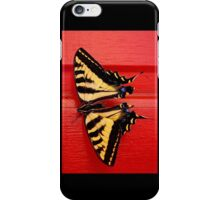 tiger swallowtail butterfly on unusual background iPhone Case/Skin