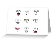 Funny Emotions Greeting Card