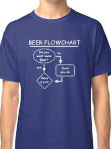 BEER FLOWCHART Funny Classic T-Shirt