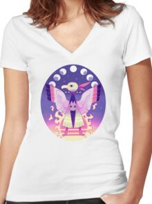 FUTURE SIGHT Women's Fitted V-Neck T-Shirt