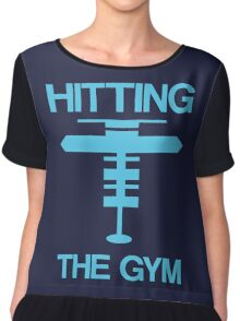 Hitting the Gym [Mystic] Chiffon Top