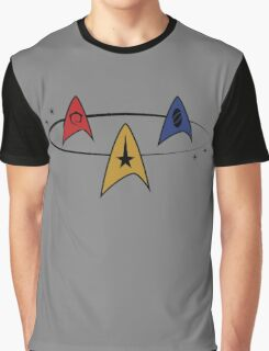 Star Trek Fleet Insignias Graphic T-Shirt