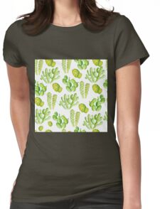 watercolor cactus Womens Fitted T-Shirt