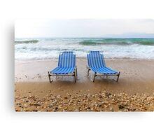 Sun loungers  Canvas Print