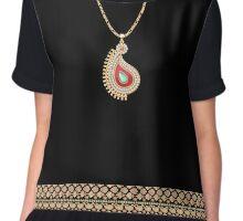Paisley necklace Chiffon Top
