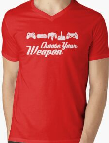Choose Your Weapon Game Mens V-Neck T-Shirt