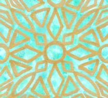 Golden Mandala in alpine lake - One Mandala A Day Sticker