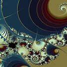 Waves Spirals and Mandelbrots No. 1 by Mark Eggleston