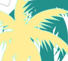 Mint stripes and tropical palm trees Sticker