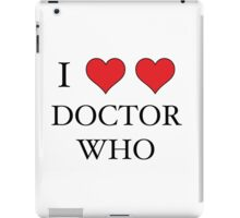 I Heart (x2) Doctor iPad Case/Skin