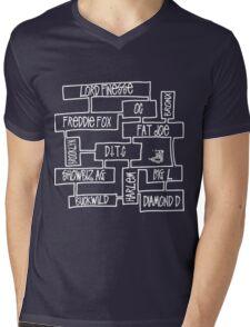 D.I.T.C diggin in the crates Golden Age Hip Hop mind map Mens V-Neck T-Shirt