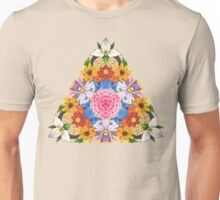 Triangular Flowers Unisex T-Shirt