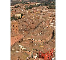 Siena - Rooftops Photographic Print