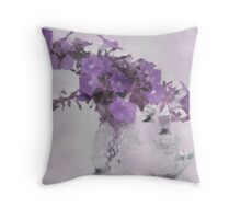 The Broken Branch - Digital Watercolor Throw Pillow