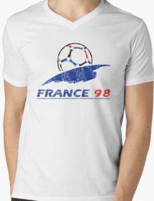 France 98 - Vintage Mens V-Neck T-Shirt