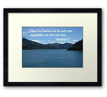 Blue Waters of the Marlborough Sounds (3421 Views) Framed Print