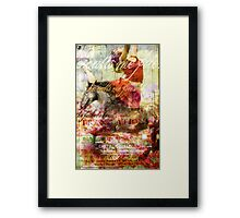 He calls me Friend Framed Print