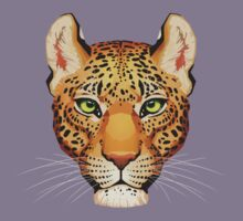 Leopard Face Kids Tee