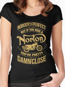 Norton Motorcycle T Shirt Women's Fitted Scoop T-Shirt