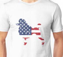 Patriotic Poodle American Flag Unisex T-Shirt