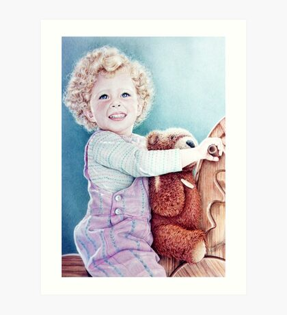 Rocking Horse and Teddy Art Print