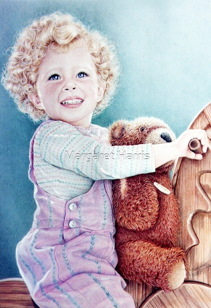 Rocking Horse and Teddy by Margaret Harris