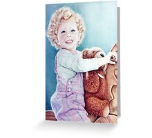 Rocking Horse and Teddy Greeting Card