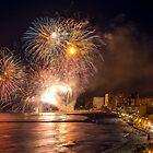 Fireworks at the Fiesta del Carmen 4 by Ralph Goldsmith