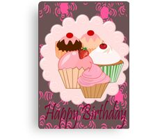 Cup Cakes (4017  Views) Canvas Print